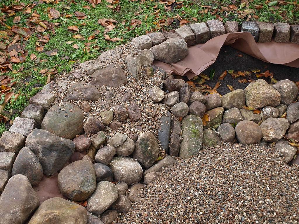 Feuerschale Aus Feldsteinen Und Kies Feinschmeckergarten