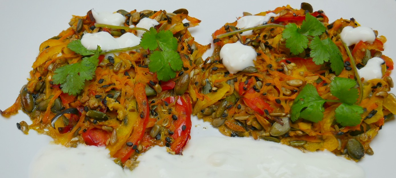 Lazy crunchy veggie fritters