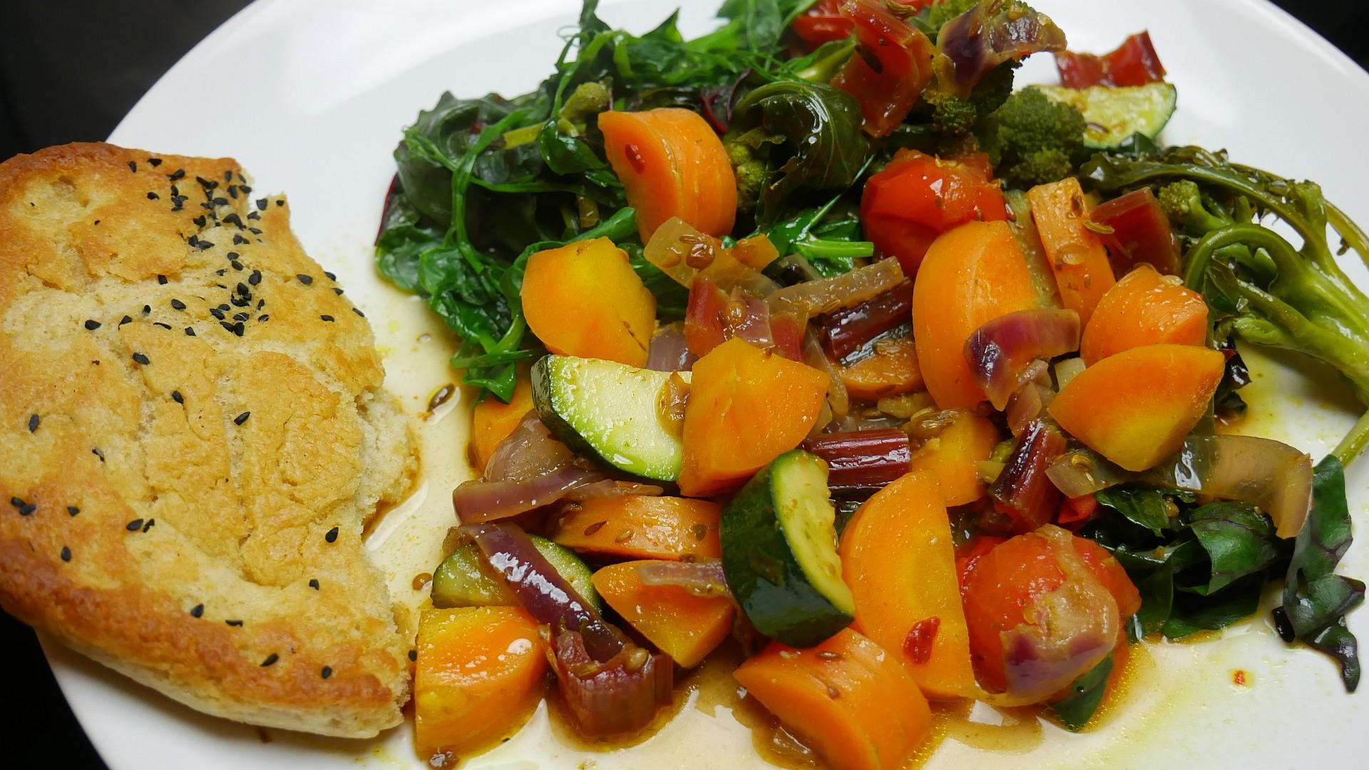 Gemüsecurry mit Naan