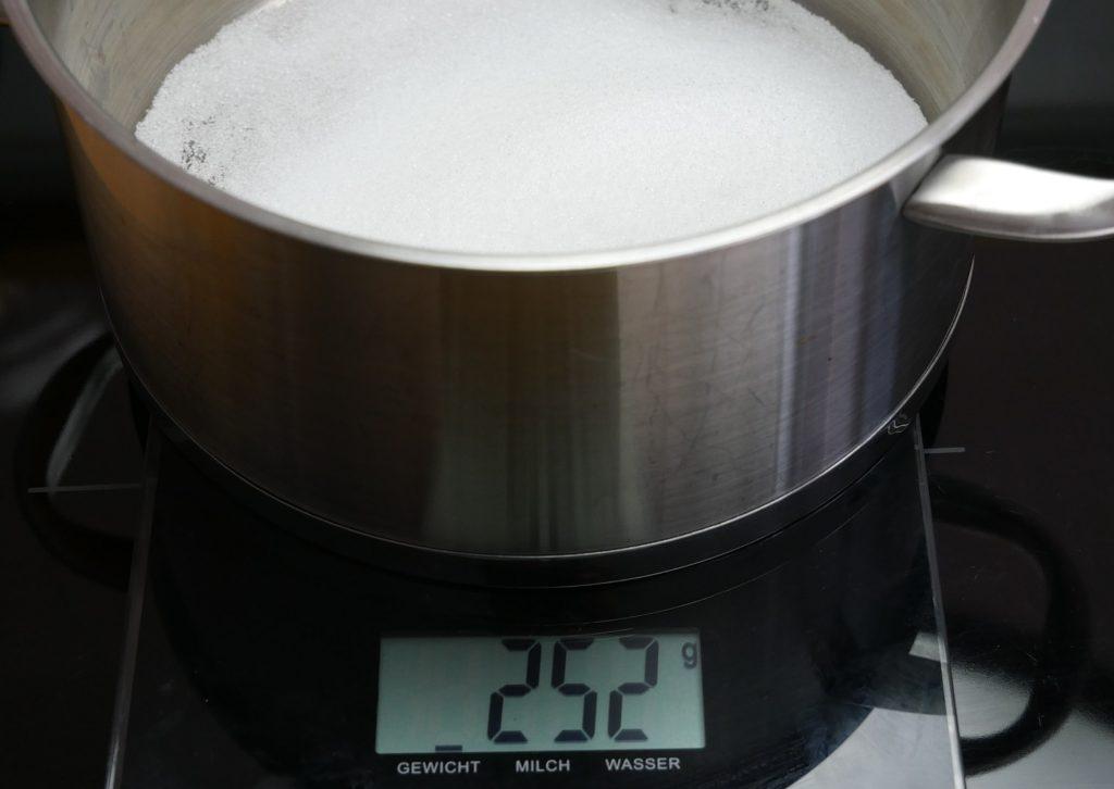 Zucker Kochtopf
