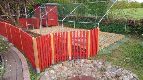 Hühnerhof nach Fertigstellung im April
